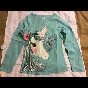 NWT Gymboree Unicorn long-sleeve, size 10